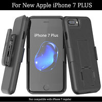"iPhone 7 PLUS 5.5"" Belt Clip Case Shell Holster Combo Easy Grip with Kickstand"