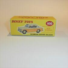 Dinky Toys 166 Sunbeam Rapier Saloon (Cream) empty Repro Box
