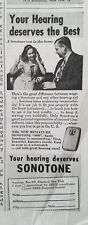 1948 vintage sonotone hearing aid you deserve the best ad