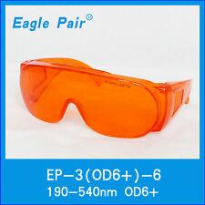 CE-Schutzbrille für 190nm-540nm 450nm / 532nm Dioden-Laserschutzbrillen OD6 +
