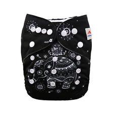 Alva Elephant Baby Boy Cloth Diaper Washable Reusable Pocket Nappy +1Insert