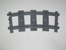 Lego ® RC Rail Courbe Chemin de Fer Train 9 v Dark Stone Grey ref 53401 NEW