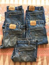 Vtg Levi's 517 Jeans 80's Blue Denim Mens Sz 34x29 Made In USA Lot Of 5