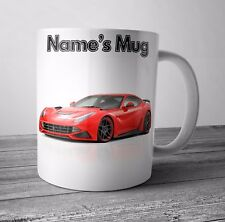 Red Ferrari Picture Themed Personalised Mug / Cup Birthday Christmas Gift
