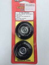 "Du-bro Treaded Lightweight Wheel 2"" Dia. (51mm) 1/8"" Axle Dia."