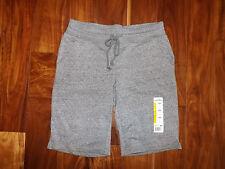 New Womens Eddie Bauer Snow Heather Charcoal Gray Bermuda Shorts Size XL