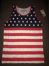 NWT Men's American Flag USA Tank Top Red White & Blue Sz 2XL