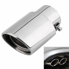 Universal Auto Chrome Rear Round Exhaust Pipe Tail Muffler Tip Stainless Steel