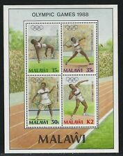 1988 Malawi Scott #517a - Seoul Summer Olympic Games Souvenir Sheet - MNH
