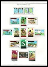 THE GILBERT ISLANDS 1976 OVERPRINT ISSUES ON PAGE (LHM/UHM) *HIGH VALUES UHM*