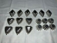 Cute Lot 18 Custard Cups 3 Designs 6 Each Flower Diamond Heart