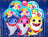BABY SHARK BABYSHARK Balloon Latex Party Supply Decoration BANNER TABLE CUPCAKE