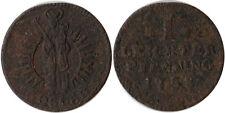 1758 Germany - Goslar Free City 1 Leichter Pfennig Coin KM#116