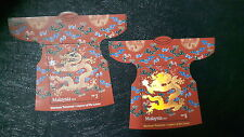 Malaysia Year of Dragon RM3 & RM5 MS stamp  2012 2pcs