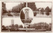 Wolverhampton Multi View RP pc used 1921 ? WHS Kingsway