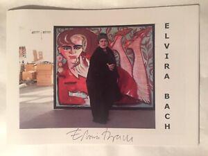 Elvira Bach signiert Kunst Katalog Original Unterschrift Signatur Autogramm