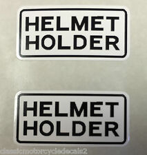 HONDA XRV750 AFRICA TWIN BLADE  HELMET HOLDER CAUTION WARNING LABEL DECALS X 2