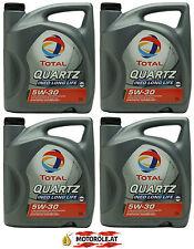4x 5l Liter TOTAL Quartz Ineo Long Life III 5W-30 VW 504 00 / 507 00 Motoröl 20l