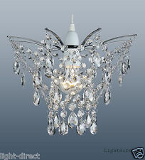 CLEAR CRYSTAL DROPLET  LAMPSHADE  LIGHT SHADE  LOUNGE BEDROOM HALLWAY