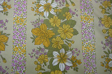 VTG retro pretty spring floral curtain fabric measures 78 x185cm Craft Project