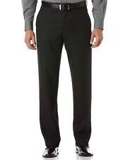 $220 PERRY ELLIS PORTFOLIO men BLACK FIT FLAT FRONT SUIT DRESS PANTS 31 W 30 L
