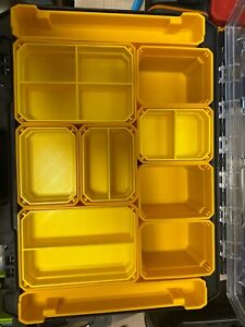 DEWALT TSTAK ORGANISER NESTING BINS SMALL AND LARGE
