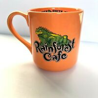 Rainforest Café Iggy the Philospher Iguana Orange Large Tea Coffee Mug 18oz 2002