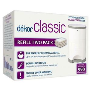 New 2 Pack Dekor Classic Diaper Pail Refills Most Economical Refill System