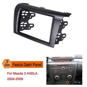 2 Din Car Stereo Fascia Dash Panel Plate Frame Kit For Mazda 3 AXELA