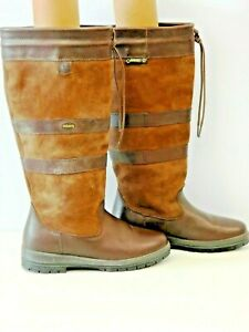 Dubarry Galway size 41 Dry Fast - Dry Soft Leather Brown BOOTS Gore-Tex BNWOB