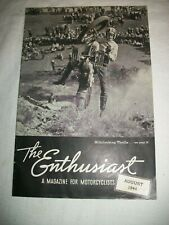 THE ENTHUSIAST MOTORCYCLE MAGAZINE AUGUST 1944