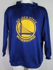 Golden State Warriors NBA Majestic Men's Quarter-Zip Pullover Blue Hoodie