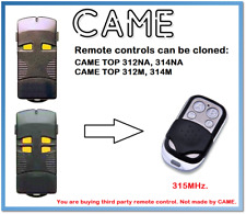 CAME TOP312M, TOP314M Universal Remote Control Duplicator 4-Channel 315MHz.