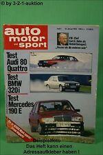 AMS Auto Motor Sport 1/83 DB 190E Allrad Manta 400 BMW 320i Audi 80