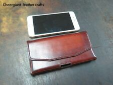 iPhone cellphone leather cover made for driving,working,shopping MIT牛皮手機皮套巧將手工皮件