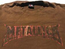 Rare Vintage 90s 00s GIANT METALLICA Concert Tour Promo Shirt Metal Rock Band