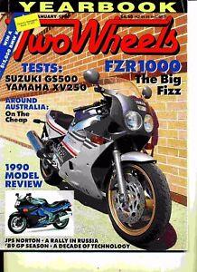 Two Wheels Magazine January 1990 Yamaha FZR1000W