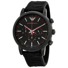 918aac9bddff EMPORIO ARMANI Luigi Cronógrafo Cuadrante negro Reloj Para hombres AR11024