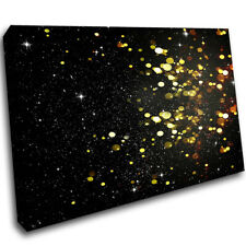 Abstract yellow bokeh black Pattern Canvas Poster Wall Art Print Picture Framed