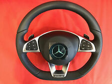 AMG Mercedes-Benz A B ML Class steering wheel black leather,red stitches New MB