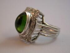 edler Ring  mit Turmalin aus den 50er Jahren Weißgold 750