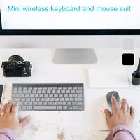 Clavier sans fil mince 2.4G souris optique sans fil pr PC noir SH