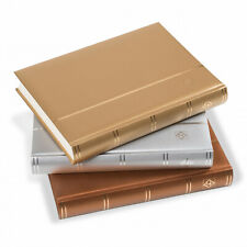 358056 Leuchtturm Einsteckbuch Comfort Silber, A4, 64 chamoisfarbene Seiten