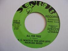 "New ListingK C White All for Free Senrab Reggae 7"" Hear"