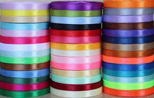 10mm Width Satin Ribbon Scrapbook Wedding Wrap Party Decor Gift Packing