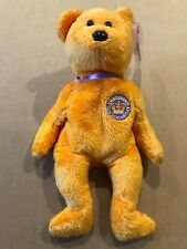 TY BEANIE BABIES BEAR - (UK) The Queen's Golden Jubilee 2002 (Orange)