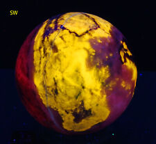 WOLLASTONITE and Calcite, Fluorescent Sphere from White Knob Quarry #3166