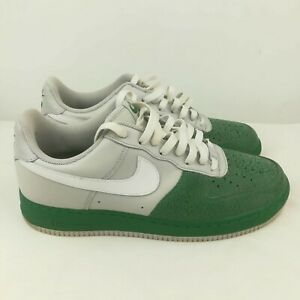 Nike Air Force One 1 Mens Size 10 Low Neutral Grey Pine Green 317295-013 Shoes