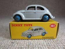 Vtg Dinky Toys 181 Grey Volkswagen in Box VW Beetle Bug Meccano England