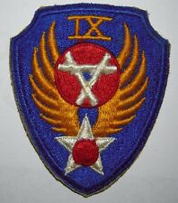 WW2 Minty AAF *9th Engineers* Patch - Nice White Cotton Backstitching